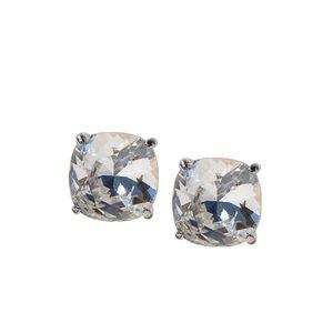 Silver Clara Stud Earrings with Swarovski Crystals